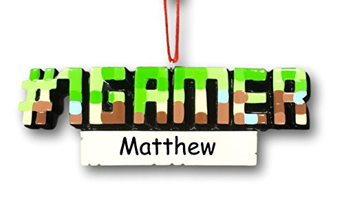 Personalized Favorite #1 Gamer Video Game or PC Game Hobby Lover Hanging Christmas Ornament with Custom Name or Gamer Tag (Christmas Ornaments Xbox)