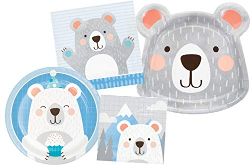 Bear Themed Party Supplies (Party Pack for 8)