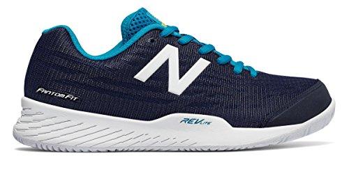 対称動機付ける歩行者(ニューバランス) New Balance 靴?シューズ レディーステニス 896v2 Black with Teal ブラック ティール US 8 (25cm)