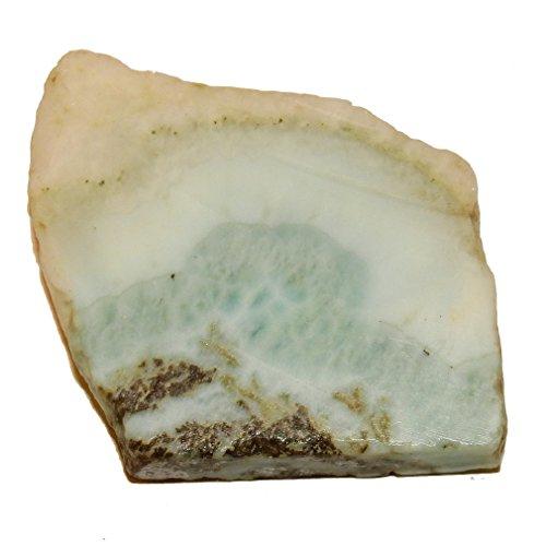 Larimar Slice 59 Fatty Blue Bacon Crystal, Spiritual Abundance Prosperity Stone 2.1