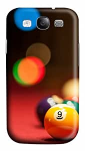 Balls billiards Polycarbonate Hard Case Cover for Samsung Galaxy S3 / SIII / I9300