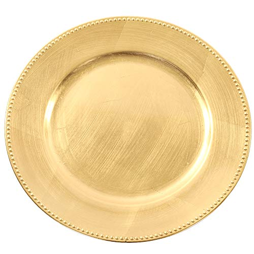 (Koyal Wholesale Charger Plates, Gold (Pack of 4))