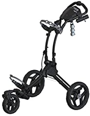 The Rovic RV1S three-wheeled cart by Clicgear features a swivel front wheel for increased maneuvering in a lightweight, streamlined frame that's easy to push on any golf course. This cart is built to last with resilient parts and durable cons...