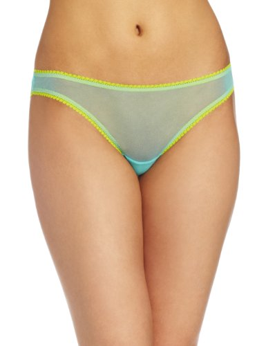 - OnGossamer Women's Mesh Low-Rise Bikini Panty, Aquamarine, Small