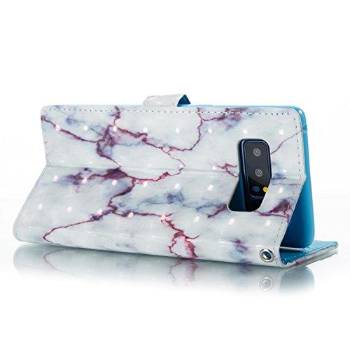 Funda Samsung Galaxy Note 8, Blanco morado Funda Libro de Cuero Flip Cover con TPU Case Interna Para Samsung Galaxy Note 8, Wallet Case con Soporte Plegable, Ranuras para Tarjetas y Billete