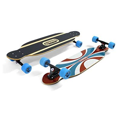 Hammond 7 Plys Canadian Maple Wood Longboard Skateboard Piper 37 with Surf Highway Blue Wheels : Sports & Outdoors