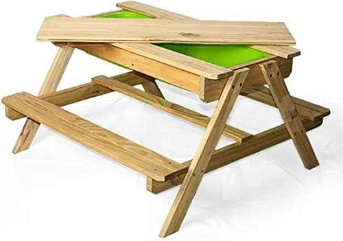 Jeu Table de Table Table Pique Maxx de Nique Sable Jardin 90x90x50 cm de dCorBxeW