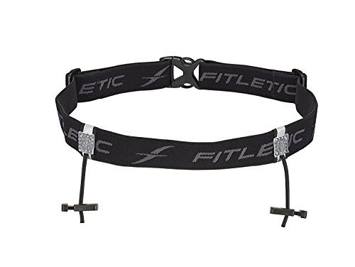 Fitletic Race Number Holder, Black/Gray, One Size Fits All