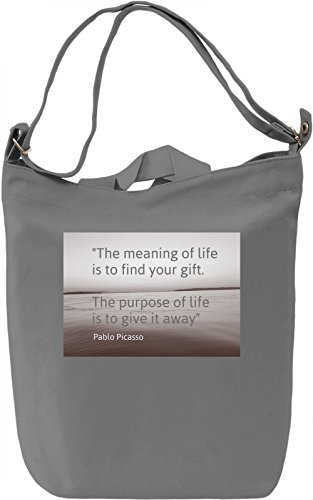 The Purpose Of Life Borsa Giornaliera Canvas Canvas Day Bag| 100% Premium Cotton Canvas| DTG Printing|