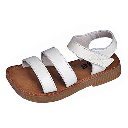 Walker Anti Shock Single - Kids Girls Glitter Flat Sandals Comfort Open Toe Anti-Slip Casual Slip On Summer Beach Sandal Shoes