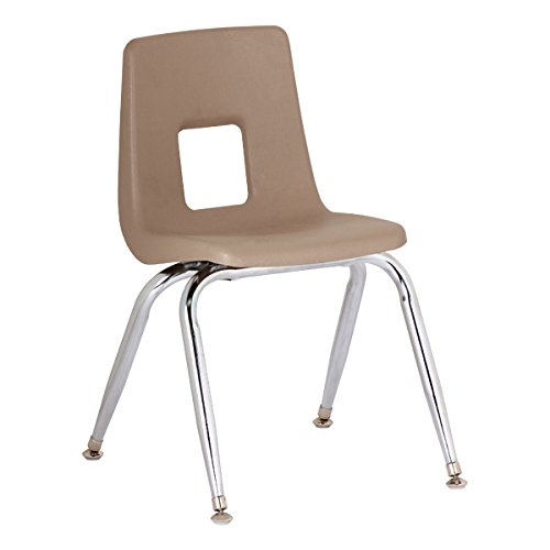 SC1009RDB 4 Pack Red Sprogs 100 Series Preschool Chair with Chrome Legs 9 1//2 Seat Height
