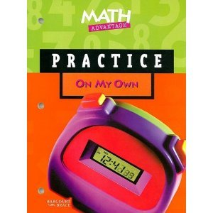 Practice On My Own Teacher's Workbook (Harcourt Brace Math Advantage Grade 5)