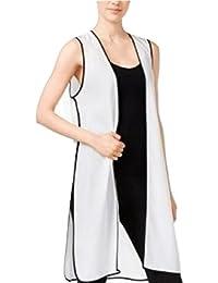 Long Colorblocked Vest White Comb XS