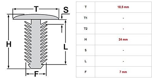 Fijaci/ón metal unterfahr//–/subsuelo Motor//–/Tornillos 20/unidades