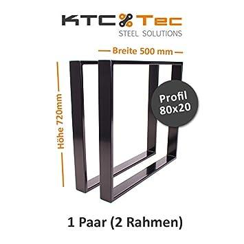 Tischgestell schwarz TR80s-500 breit Tischuntergestell Tischkufe Kufengestell
