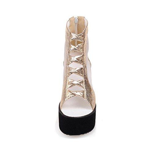 Wedges Sandalen Gold Sommer 23 Damen Schuhe TAOFFEN qgRT8ST
