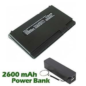 Battpit Bateria de repuesto para portátiles HP Mini 1010TU (2300 mah) con 2600mAh Banco de energía / batería externa (negro) para Smartphone