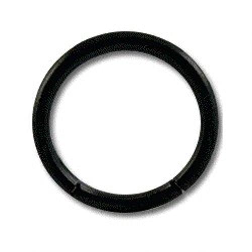 - Grade 23 Titanium Blackline Labret / Segment Ring w/ Black Anodization - 1.6x12(1/2