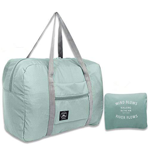 LANGMAN Travel Foldable & Portable Duffel Duffle Bag Waterproof Travel Storage Luggage Tote Bag for Women and Men (Light…