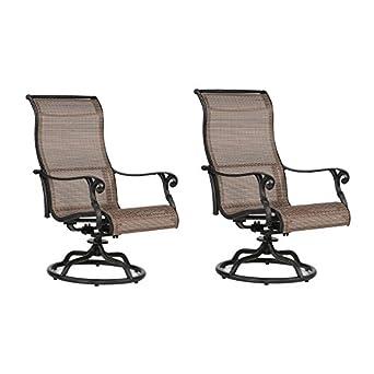 Miraculous Amazon Com Sling Swivel Rocker Patio 2 Chairs With Ibusinesslaw Wood Chair Design Ideas Ibusinesslaworg