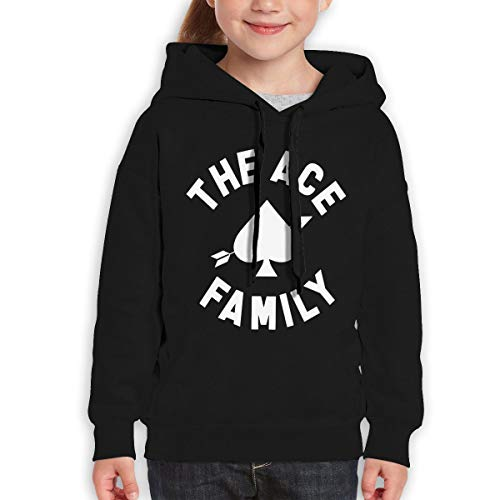 Boys Girls The Ace Family Teen Youth Hoody Black L