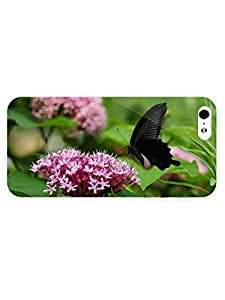 3d Full Wrap Case for iPhone 5/5s Animal Black Butterfly73 hjbrhga1544