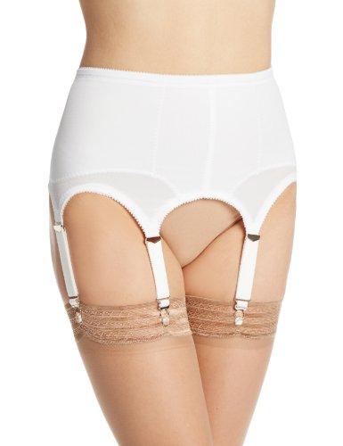 Rago Women's Six Strap Shaper Garter Belt, White, X-Large (32)
