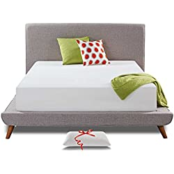 Live and Sleep Resort Classic Queen Mattress, Memory Foam Mattress - 12-Inch - Cool Bed in a Box - Medium Firm - Advanced Support - Bonus Luxury Form Pillow - Low VOC CertiPUR Certified - Queen Size