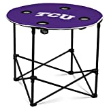 Logo Brands NCAA TCU Horned Frogs Round Table, One