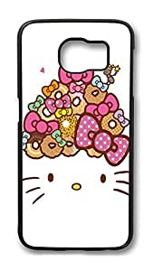 Brian114 Case, S6 Case, Samsung Galaxy S6 Case Cover, Bow And Cat Retro Protective Hard PC Back Case for S6 ( Black )