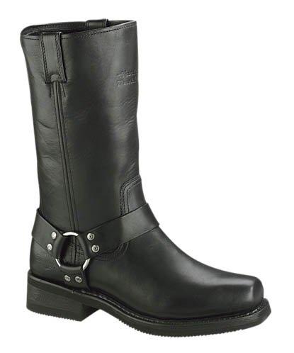 Harley-Davidson Mens Hustin Black High Cut Riding Boot (El Paso Black Mens Boots)
