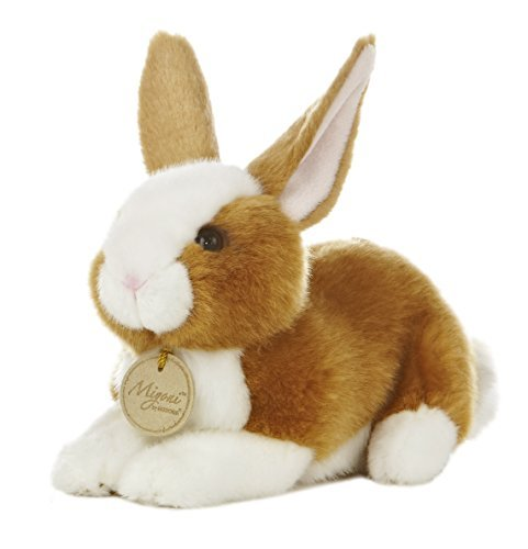 "Aurora World Miyoni Bunny 8"" Plush, Brown"