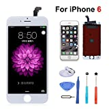 Replacement Screen iPhone 6 4.7inch LCD Touch Screen & LCD Display for iPhone 6 4.7 inch with Free Tools kit (White)