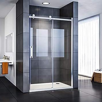 SUNNY SHOWER Door Glass Semi Frameless Sliding Door 60 in. W x 72