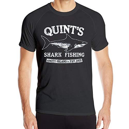 - VANMASS Quints Shark Fishing Men's Moisture Wicking Short Sleeve Athletic T Shirts Black
