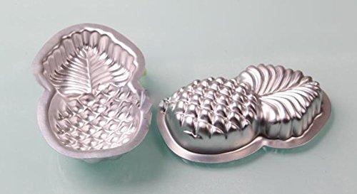 Ialwiyo 2 Pieces Starfish Shape Metal Bath Bomb Molds (14.5cm x 9cm x 3cm) (Pineapple - Shape Metal