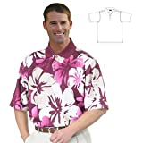 Monterey Club Mens Dry Swing Mini Matrix Textured Giant Hawaiian Print Shirt #1577