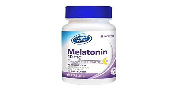 Amazon.com: Premier Value Melatonin Quick Dissolve Vitamin Supplement - 10 mg, Tablet 60 ct: Health & Personal Care