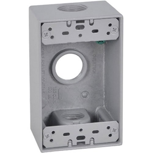 Master Electrician FSB75-3 Weatherproof 1 Gang Rectangular Outlet Box - Rectangular Outlet