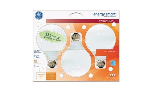 (GE 85392 Compact Fluorescent Bulb, 11 Watt, G25 Globe, Soft White)