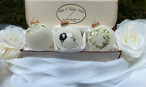 Set Bridal Ornament (Wedding Gift Ornament Set for the Bride and Groom)