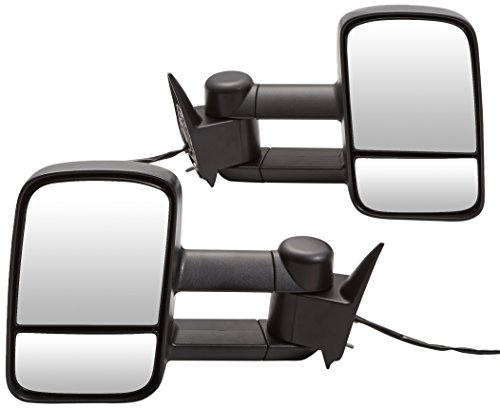 Spec-D Tuning RMX-C1088-P-FS Chevy Ck 1500 Ck 2500 3500 Black Power Towing Side Mirrors Tahoe ()