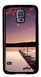 Beautiful Wharf DIY Hard Shell Black Designed For Samsung Galaxy S5 I9600 Case