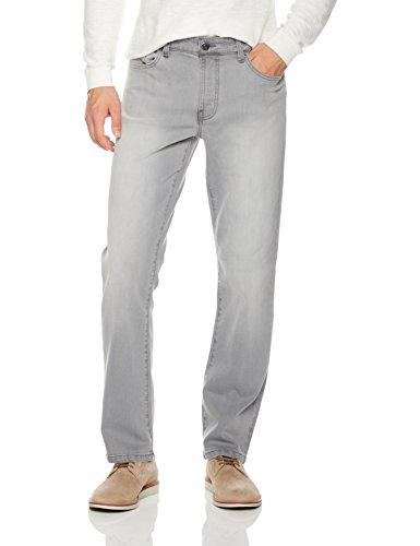 Quality Durables Co. Men's Stretch Cotton Regular Fit Jean 30W x 32L Pale Grey - Grey Bootcut Jean