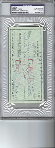 Bobby Hull Blackhawks Autographed Signed Rare Personal Check PSA/DNA/Dna