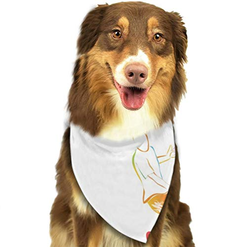 Pet Scarf Dog Bandana Bibs Triangle Head Scarfs Tennis Ball Rainbow Accessories for Cats Baby Puppy]()