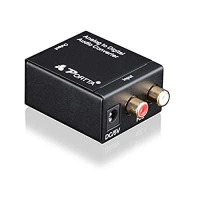 Portta PETDTAP Digital Coax and Optical Toslink to Analog Audio Converter