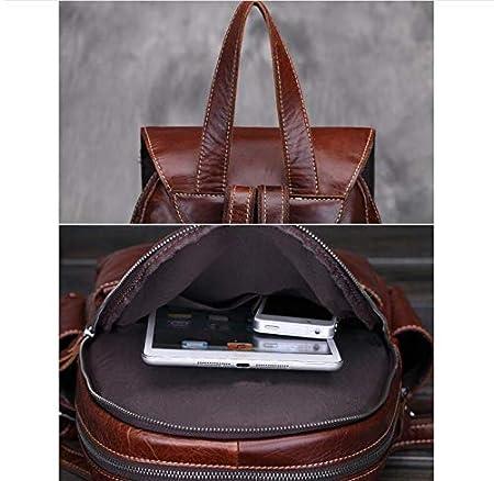 Amazon.com: WSZMD Business Laptop Backpack Notebook Rucksack mochilas de Cuero de vaca genuino para las Mujeres de Gran capacidad de La Vendimia Exquisita ...