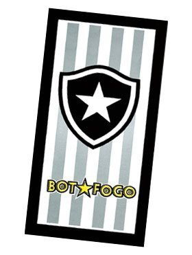 Uiowsbe Botafogo Football Club, Brazilian Soccer Team, Velour Beach Towel Made in Brazil by Uiowsbe