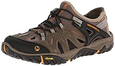 Merrell Men's All Out Blaze Sieve Water Shoe, Brindle/Butterscotch, 7 M US
